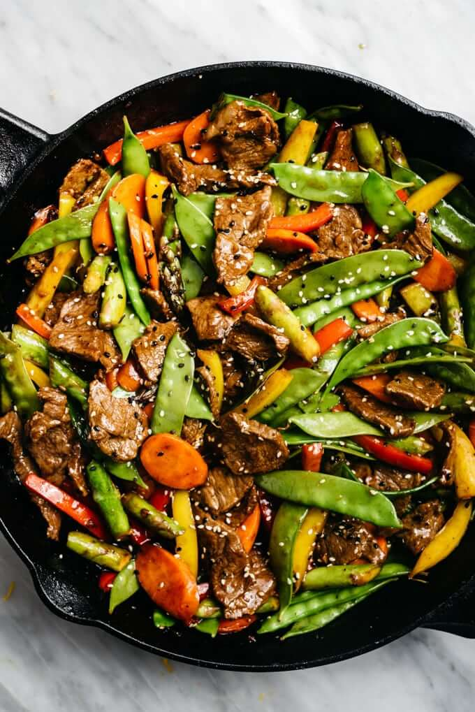 3 Steak Stir Fry with Extra Vegetables