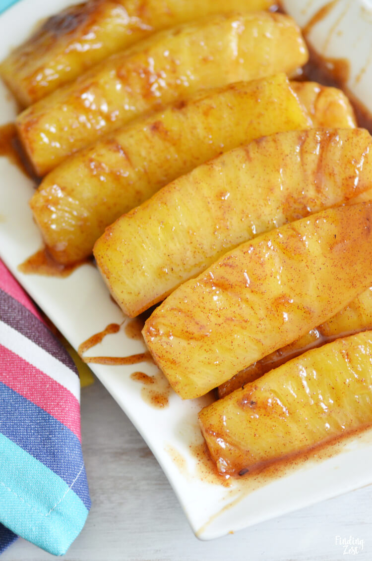 4 Cinnamon Fried Pineapples