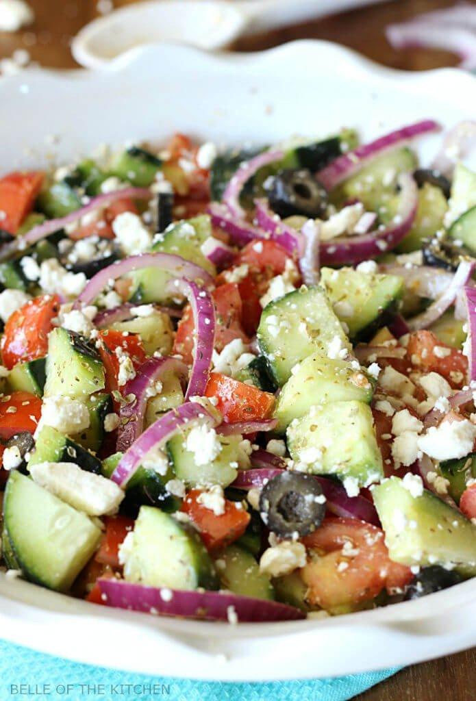 4 Cucumber Greek Salad