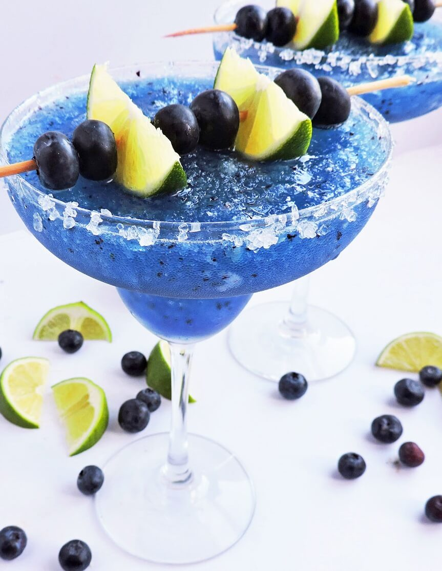 4 Fresh Frozen Blueberry Lime Margarita
