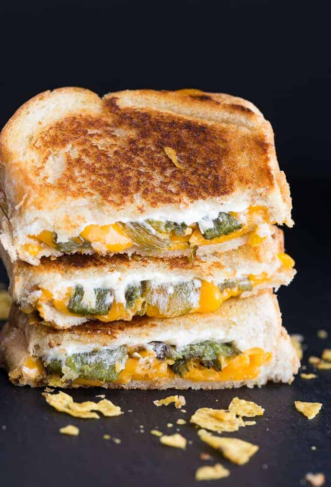 4 Jalapeno Popper Grilled Cheese Sandwich