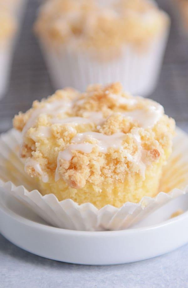 4 Lemon Cream Cheese Crum Muffins
