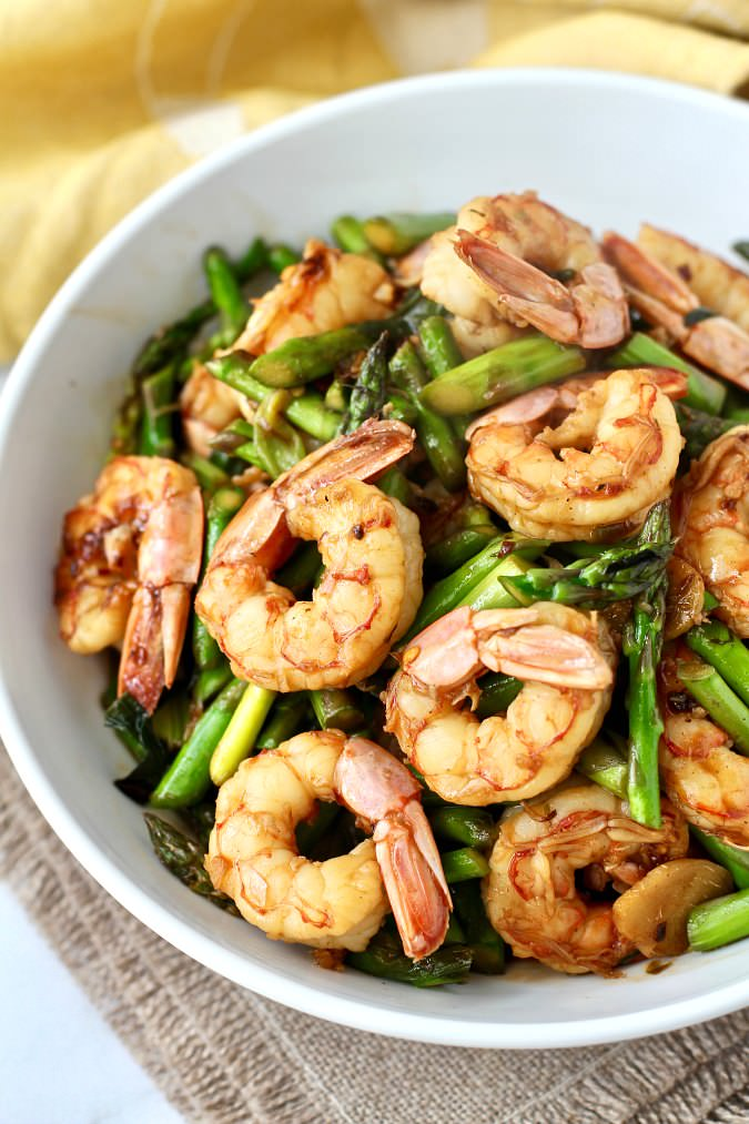 4 Shrimp and Asparagus Stir Fry