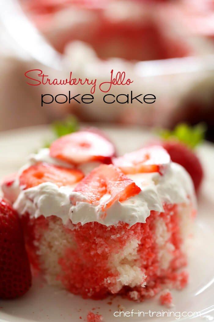 4 Strawberry Jello Poke Cake