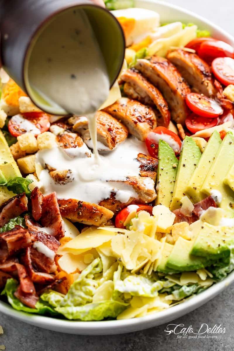 5 Grilled Chicken Cobb Caesar Salad