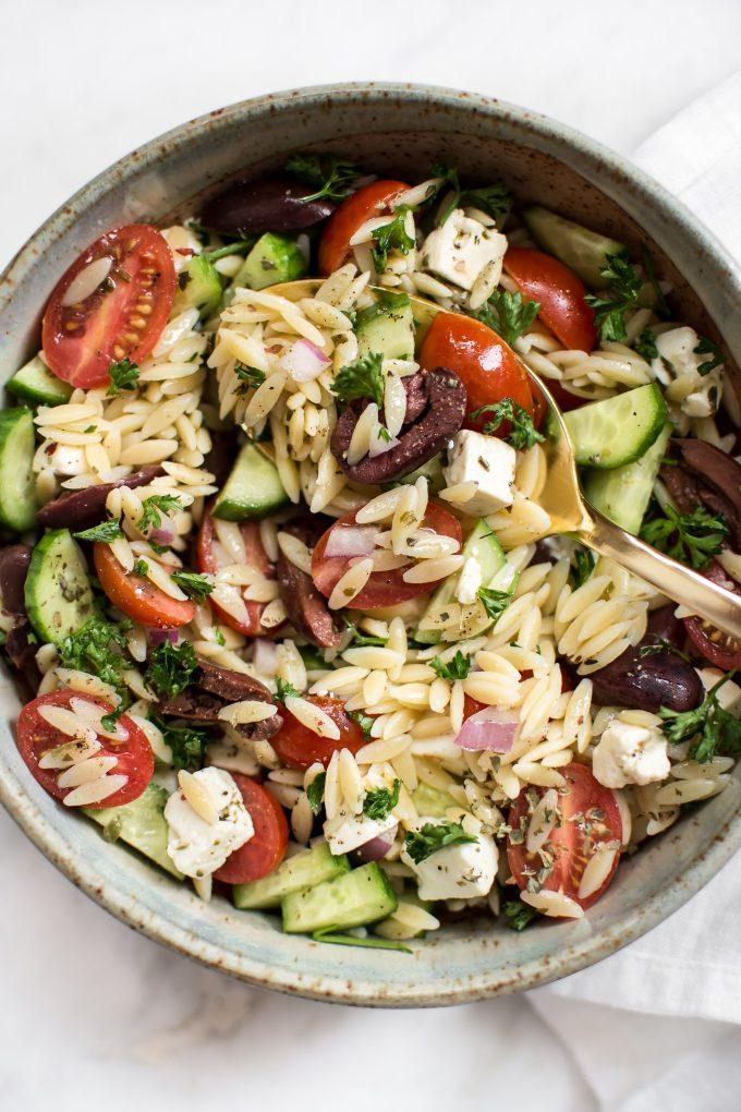 5 Mediterranean Orzo Salad