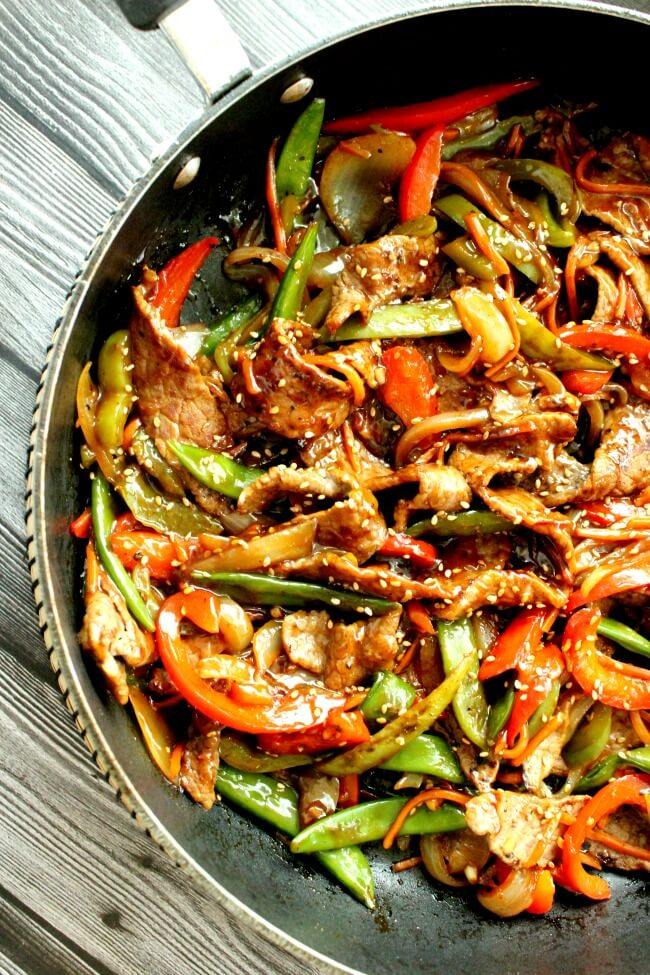 5 Teriyaki Beef and Pepper Stir Fry