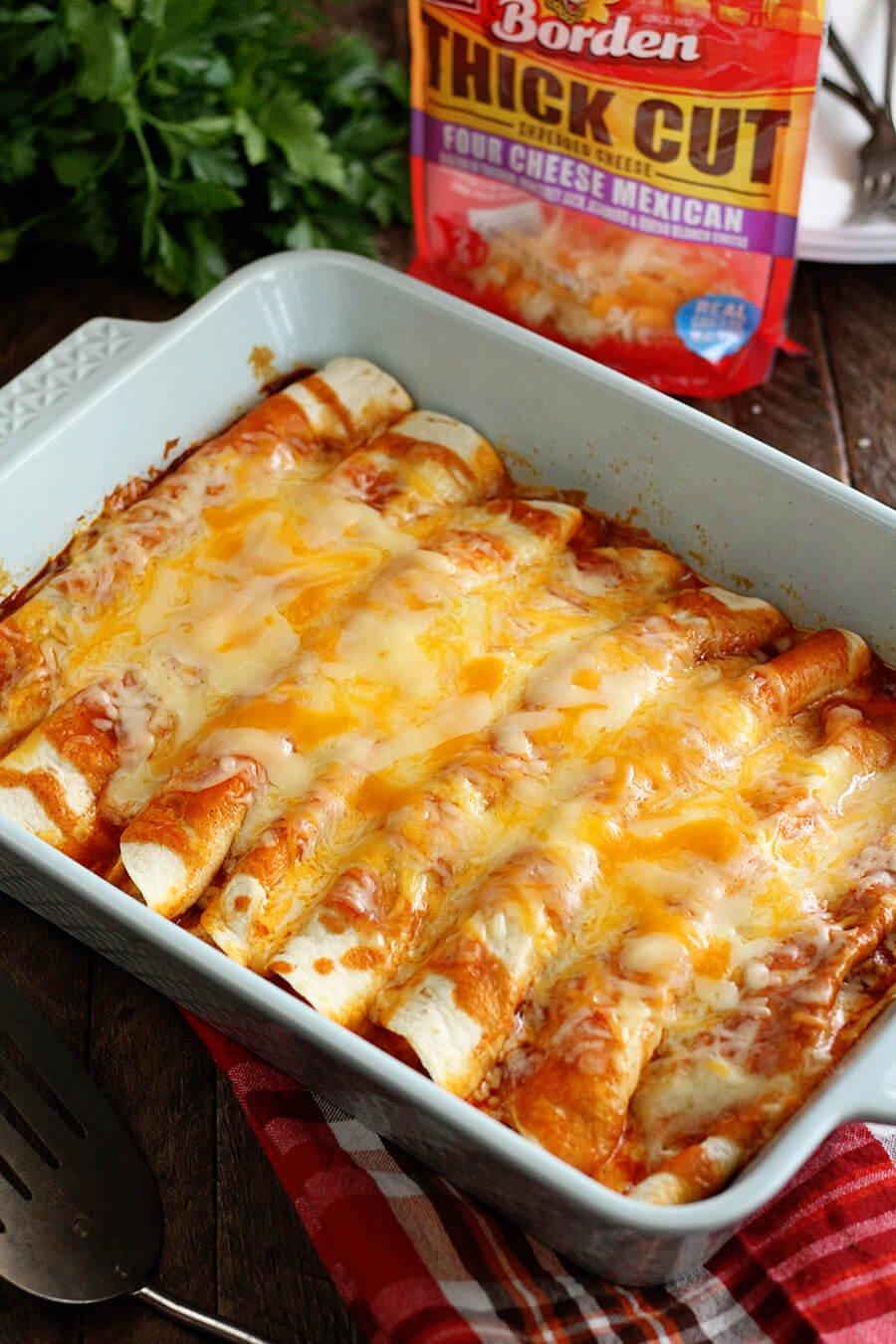 6 5 Ingredient Beef Enchiladas
