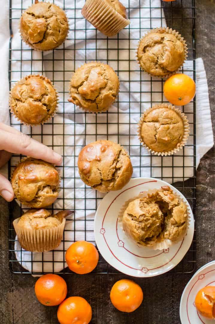 6 One Bowl Sweet Potato Peanut Butter Muffins