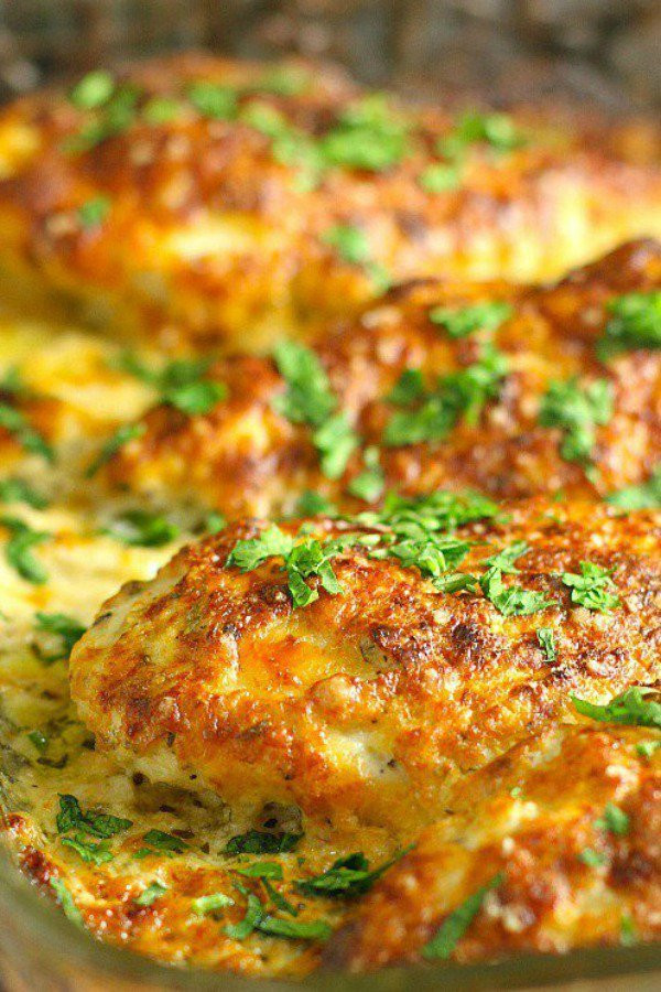 6 Smothered Cheesy Sour Cream Chicken