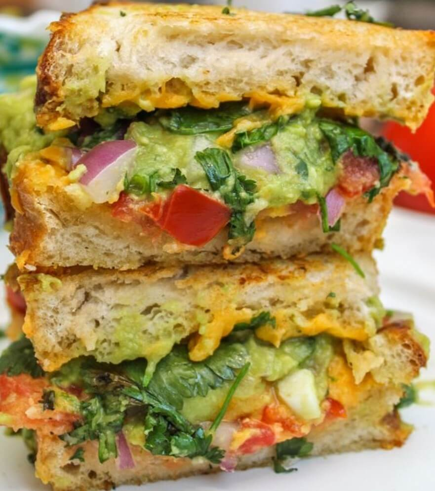 7 Bacon Guacamole Grilled Cheese Sandwich
