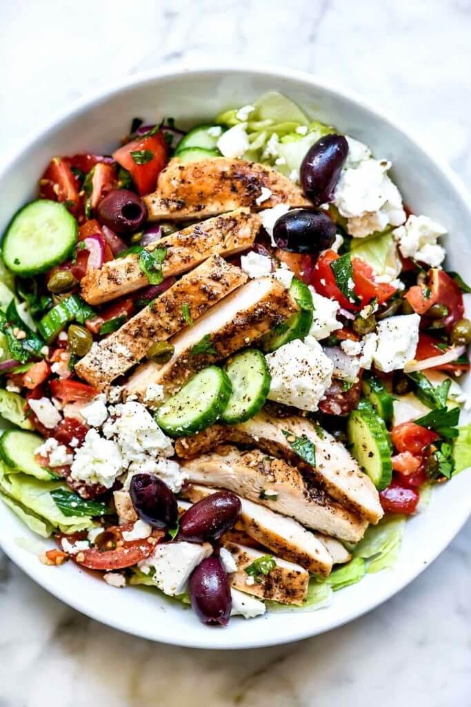 7 Greek Salad with Chicken