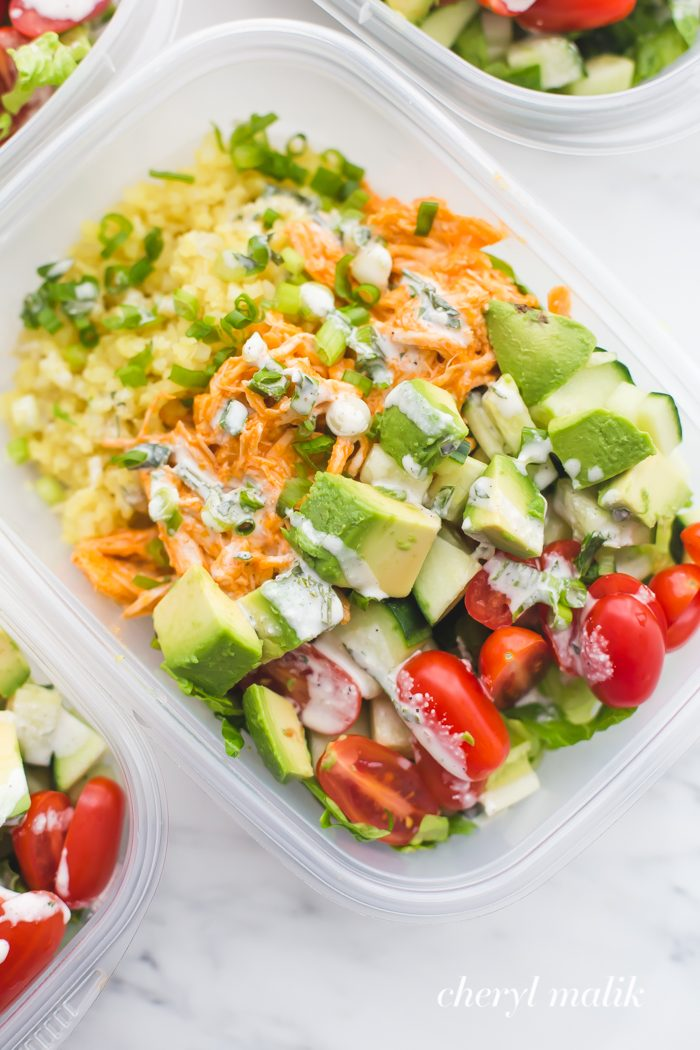 8 Buffalo Chicken Meal Prep Bowl