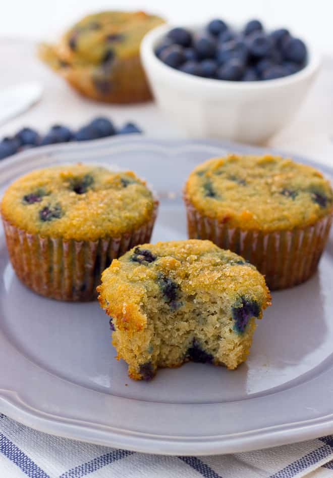 8 Coconut Flour Blueberry Muffins