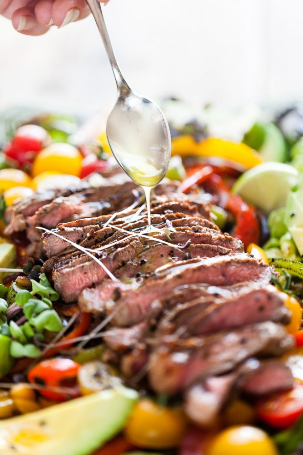 8 Fajita Salad with Steak