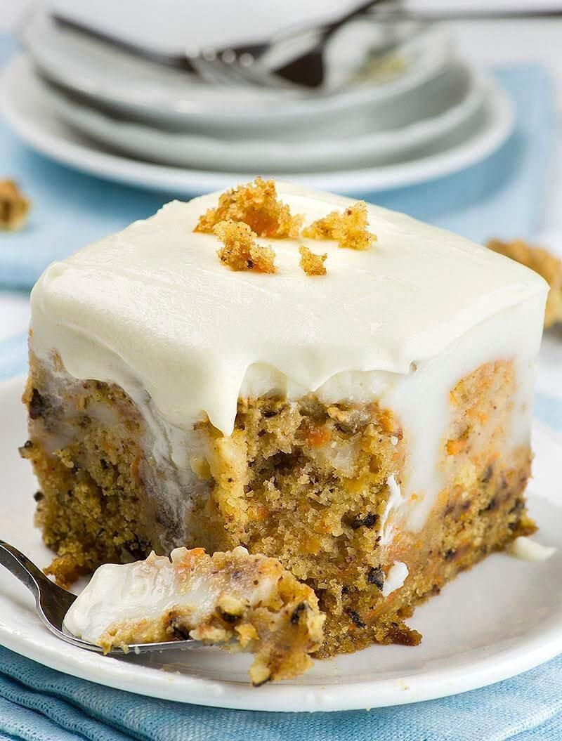 9 Carot Poke Cake