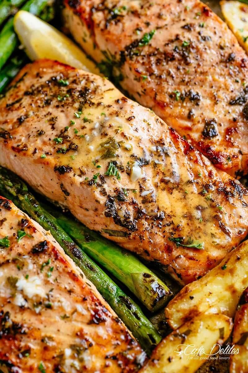 9 Sheet Pan Garlic Butter Baked Salmon